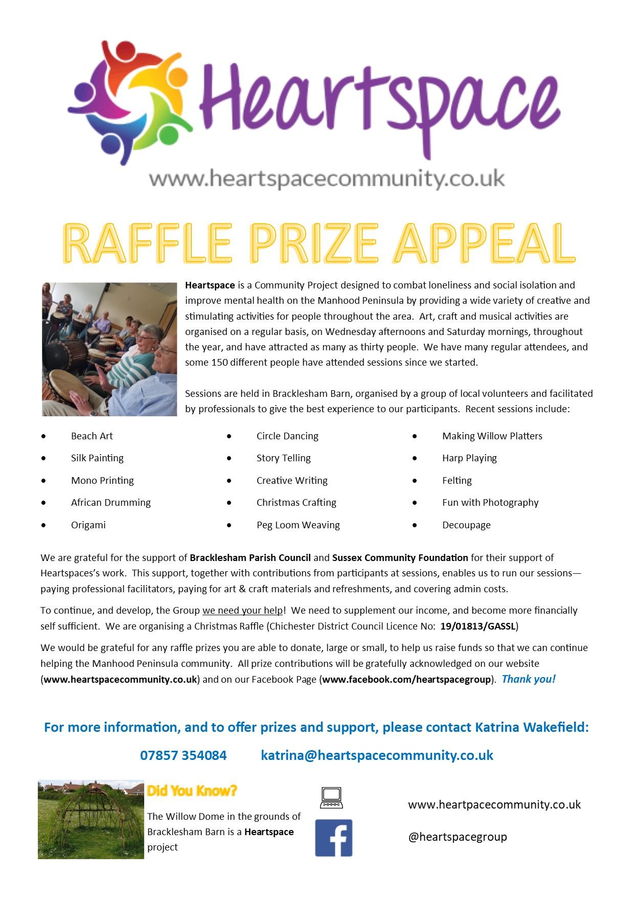 Heartspace Raffle Appeal